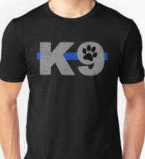 K9 Thin Blue Line Paw Unisex T-Shirt