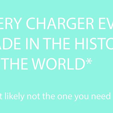 Every Charger Ever Made Storage Bag in Mint by melkel52