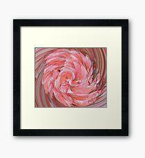Pink Geranium Flower Twirled Framed Print