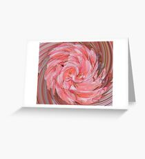 Pink Geranium Flower Twirled Greeting Card