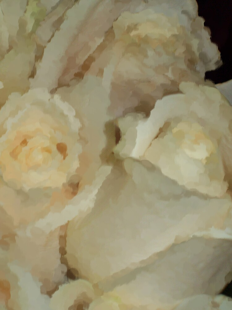 White Rose Impressions  by Michelle BarlondSmith