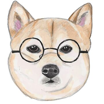 Shiba Inu With Oversized Round Glasses by namibear