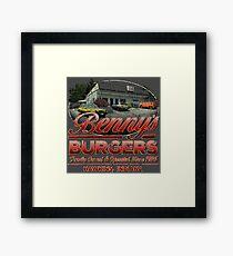 Benny's Burgers Location Framed Print