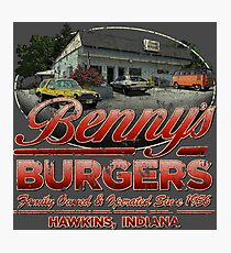 Benny's Burgers Location Photographic Print