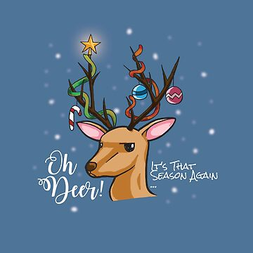 """""""Oh Deer"""" Christmas Decoration by namibear"""