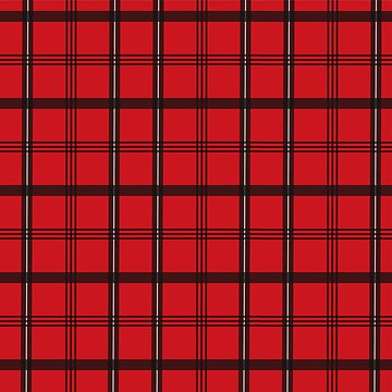 Red Plaid Print by namibear