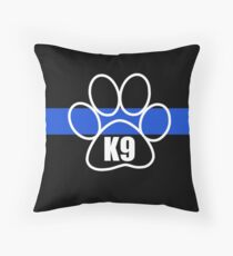 Thin Blue Line K9 Unit Throw Pillow