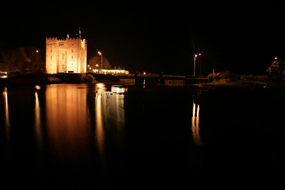 Bunratty Castl;e at night by John Quinn