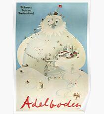 Adelboden, Schweiz, Ski Poster Poster