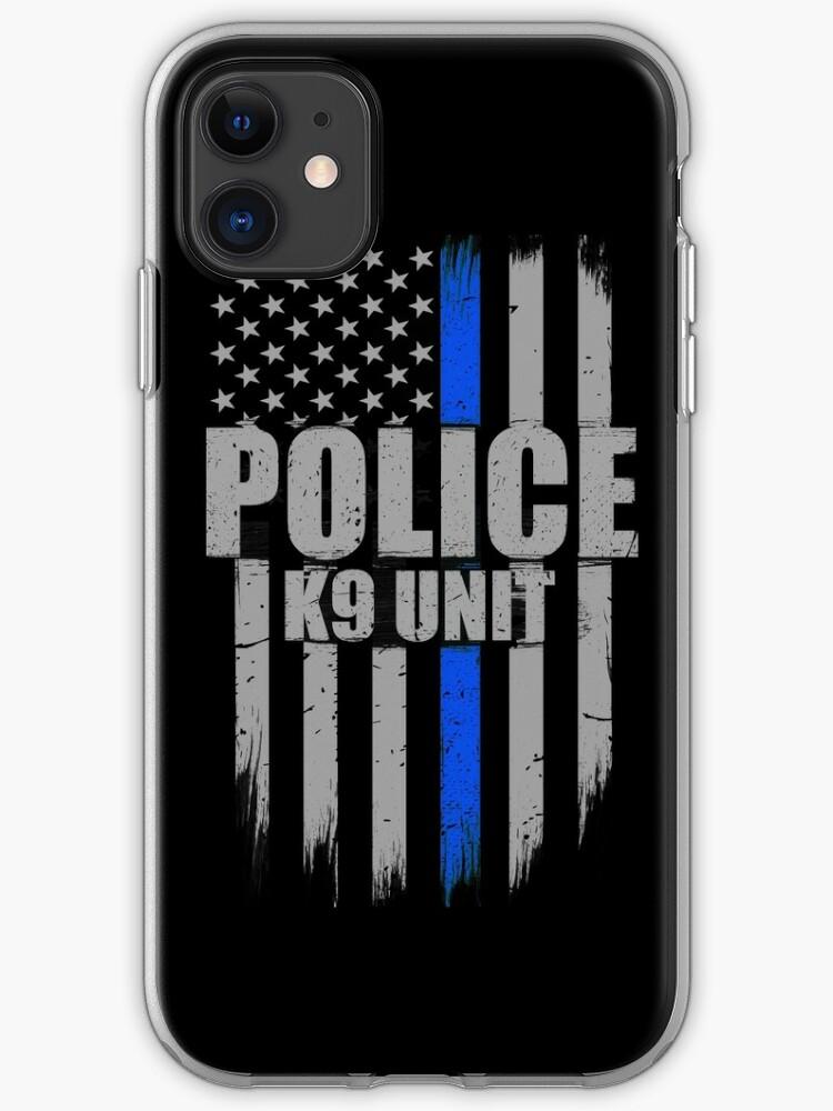 Police blue line Flag iphone case