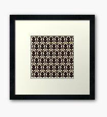 Baker Street 221b Wallpaper Framed Print