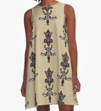 Baker Street flower A-Line Dress