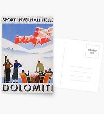 Postales Dolomitas, Italia Vintage Travel Poster