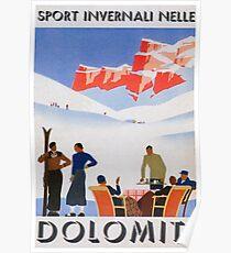 Dolomit, Italien Vintage Travel Poster Poster