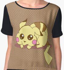 Cute Pikachu Women's Chiffon Top