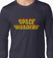 Space Invaders Arcade Type Long Sleeve T-Shirt