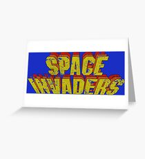 Space Invaders Arcade Type Greeting Card