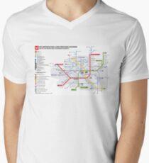 Milan subway - La metropolitana di Milano Men's V-Neck T-Shirt