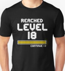 Gamer Birthday | Reached Level 18 T-Shirt