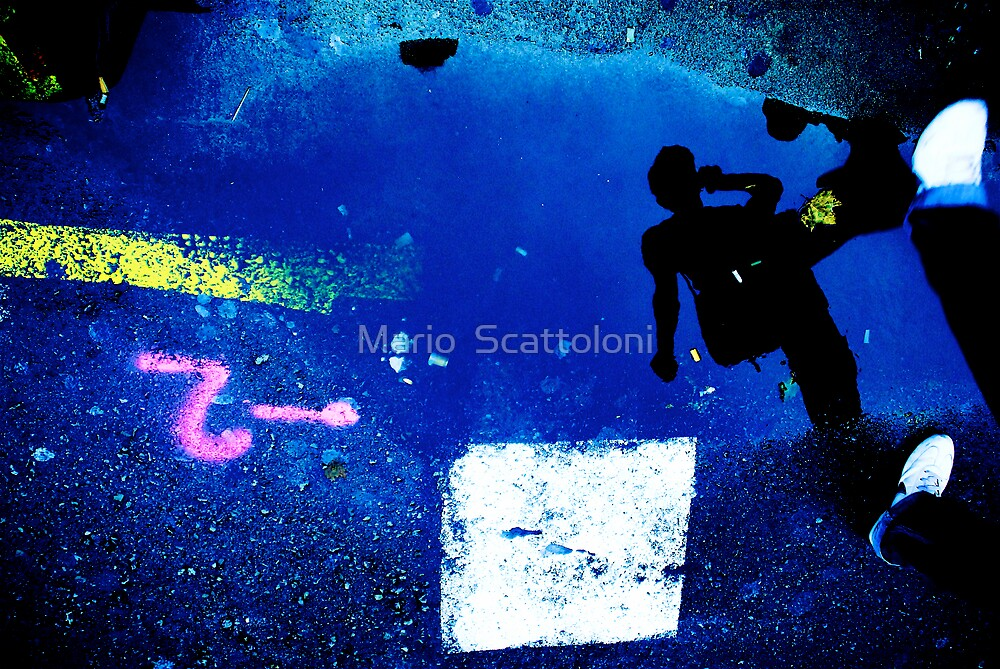 -2 Puddle People  by Mario  Scattoloni