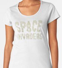 Space Invaders Pixel Text Women's Premium T-Shirt
