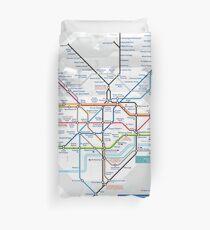Londoner U-Bahn und Stadtplan - HD Bettbezug