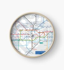 London Underground and City Map - HD Clock
