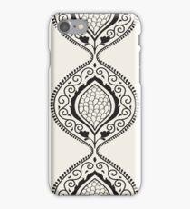Black luxury ornamental pattern iPhone Case/Skin