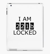 I am 221b locked iPad Case/Skin