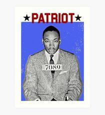 MARTIN LUTHER KING JR   PATRIOT Art Print