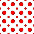 Red Dots on White  by Rupert Russell