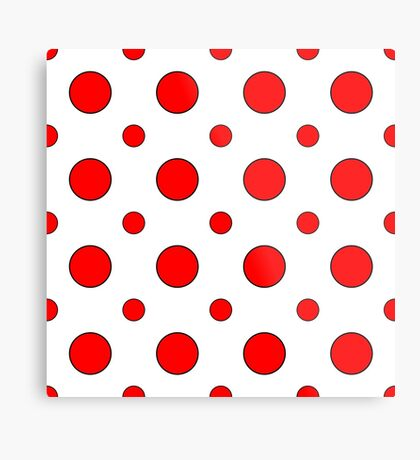 Red Dots on White  Metal Print