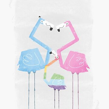 A Fabulous Family of Flamingos (Gay Pride) by boneydesign