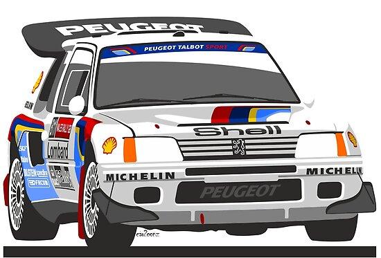 Peugeot 205 T16 Group B rally car\