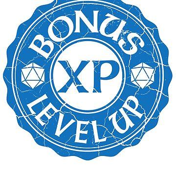 d20 Bonus XP Level Up by heathendesigns