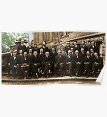 Solvay Conference 1927 Colorized  Poster
