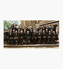 Solvay Conference 1927 Colorized  Photographic Print