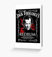 RedRum Poster JD The Shining Greeting Card
