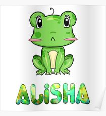 Frosch Alisha Poster