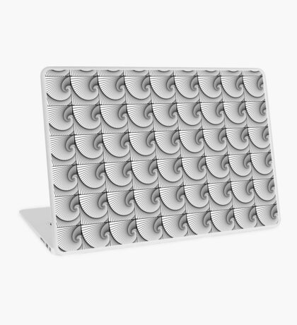 Repeating linear spiral pattern Laptop Skin