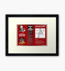 KFC Wing Sting guidelines Framed Print
