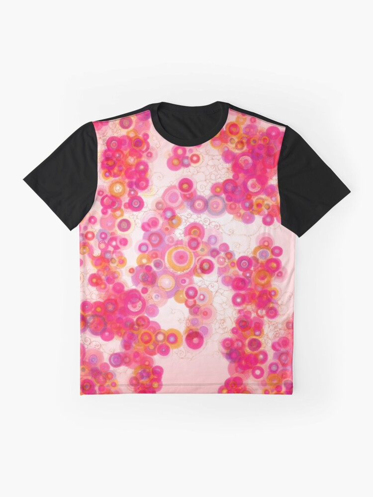 Alternate view of Spiral arm Dance pink clothing and decor pattern Graphic T-Shirt