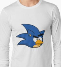 Angry Sonic Bird Long Sleeve T-Shirt