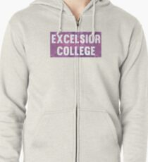 Excelsior College Zipped Hoodie