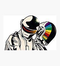 Diseño Daft Punk colorido Photographic Print