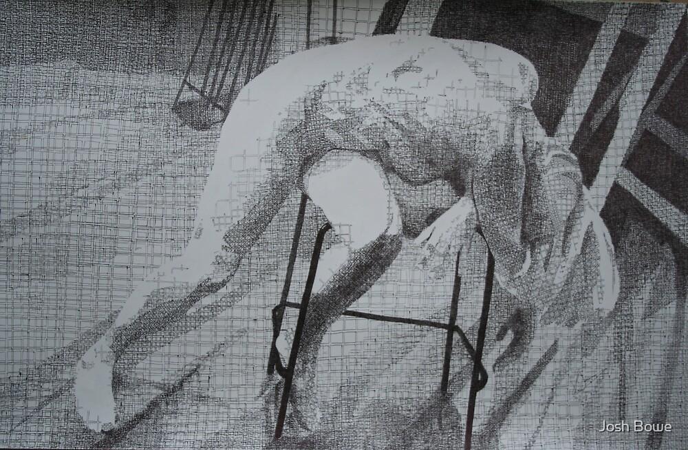 Slumped Figure(Squares) by Josh Bowe