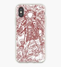 The Thing - Lines & Layers Blood Red iPhone Case