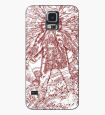 The Thing - Lines & Layers Blood Red Case/Skin for Samsung Galaxy