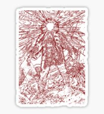 The Thing - Lines & Layers Blood Red Sticker