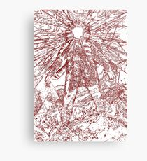 The Thing - Lines & Layers Blood Red Metal Print